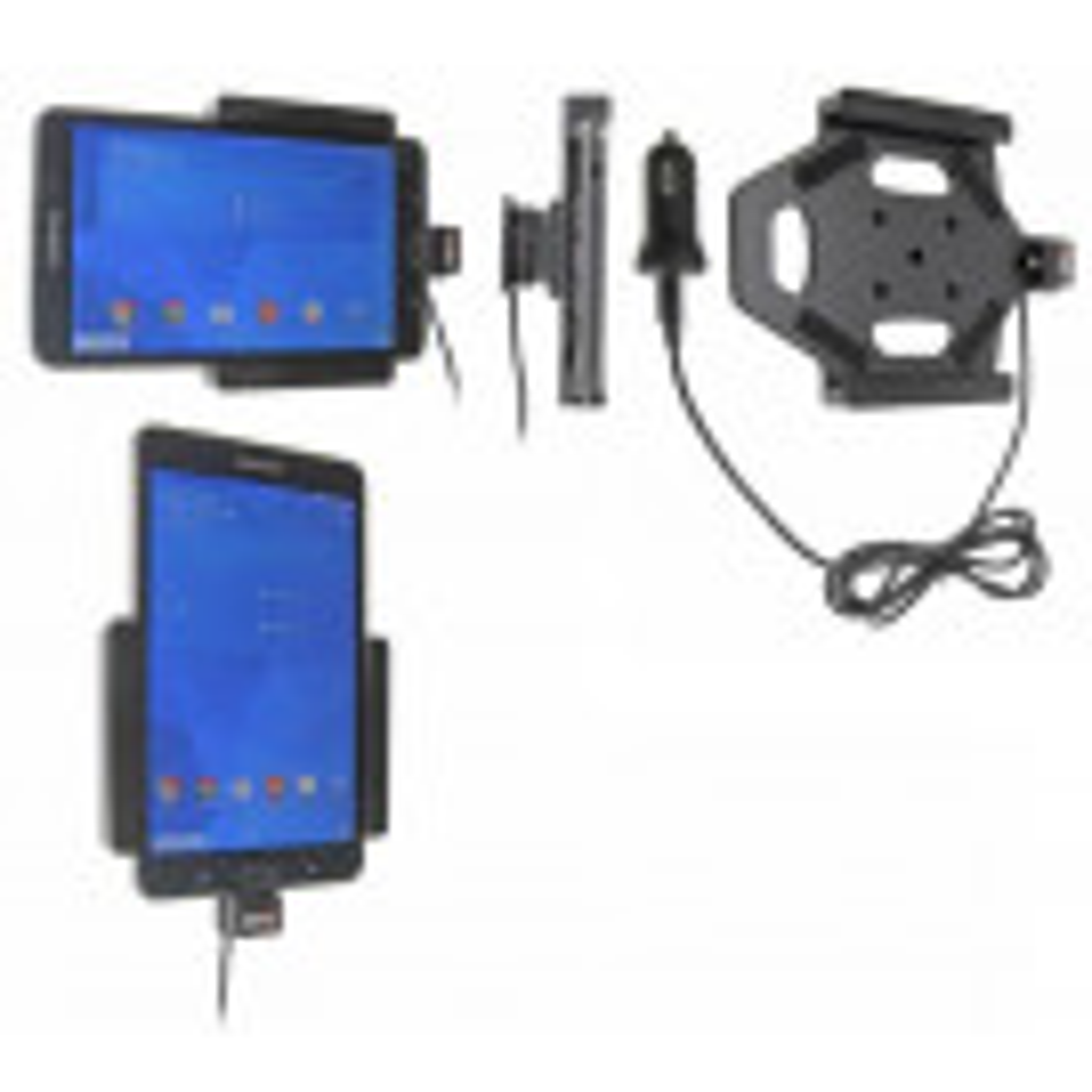 Brodit Aktiv Tablet Mobilholder med cigar adapter til Samsung Galaxy Tab 4 7.0 SM-T230/T231/T235 - 521636