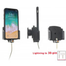 Brodit Holder m. kabeltilslutning til 30 pin adapter til Apple iPhone X/Xs - 715013